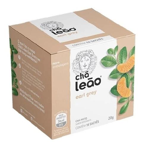 Imagem 1 de 3 de Chá Leão Premium - Earl Grey - 10 Sachés