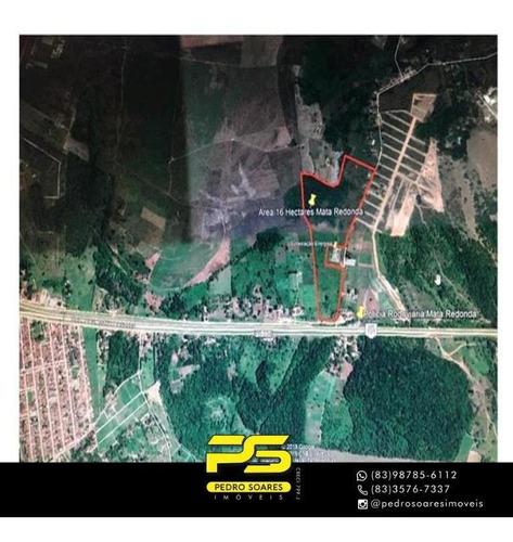 Imagem 1 de 1 de (oportunidade) Terreno À Venda, 160000 M² Por R$ 5.500.000 - Centro - Alhandra/pb - Te0238