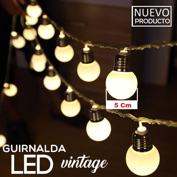 Guirnalda 14 Lamparitas Led 5 Mt 220w Calido Interconectable