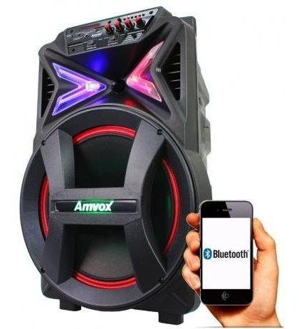 Caixa Som Amplificada Bluetooth 290w Led Barata Promocao