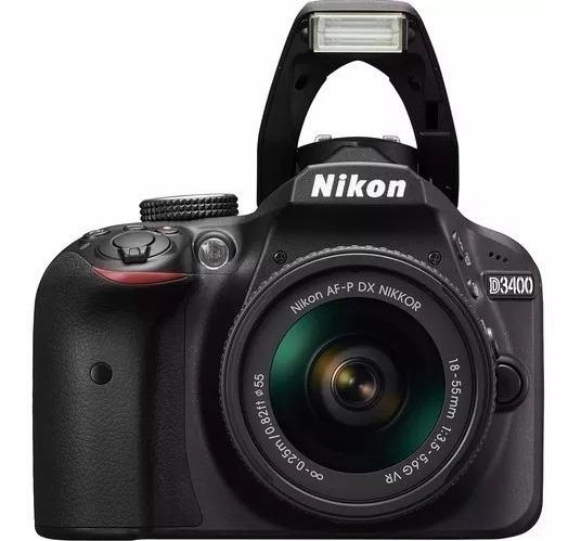 Câmera Nikon D3400 C/ Lente 18-55mm Vr 24.2 Mp Tela 3.0