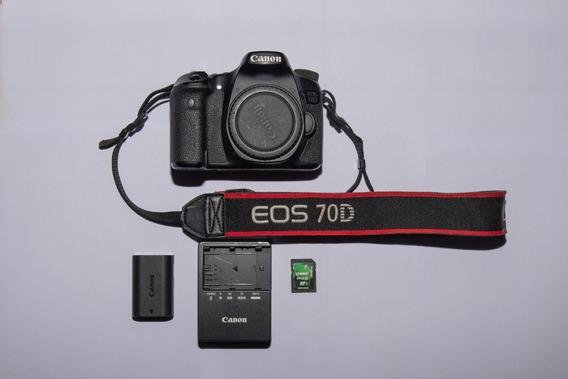 Canon Eos 70d + Cartão 64gb