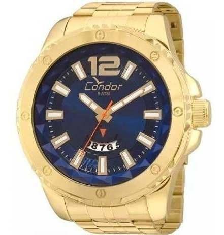 Relógio Condor Dourado Caixa Xgg Original Garantia 1 Ano