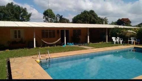 Chácara Com 3 Dormitórios À Venda, 1800 M² Por R$ 849.000,00 - Loteamento Chácaras Vale Das Garças - Campinas/sp - Ch0025