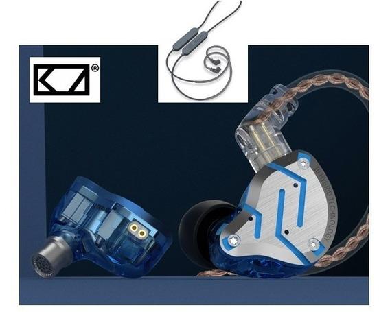 Fone Zs10 Pro Original Kz 10 Drives S/mic Bluetooh Fretegrat