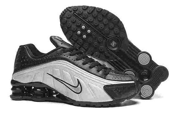 Nike Shox R4 Blanco/negro 7.5mx