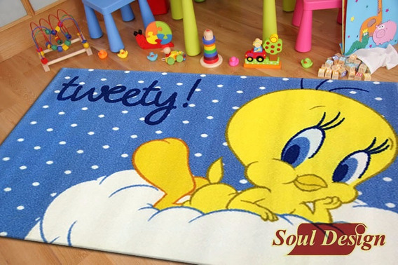 Carpeta Alfombra Tweety 80 X 120 Cm Infantil Soul