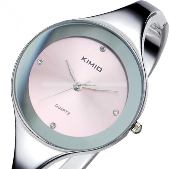 Relógio Feminino Bracelete Kimio Promoção Barato - Rosa