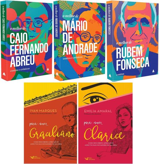 Box Para Amar Clarice + Graciliano + Melhor De Mário Andrade