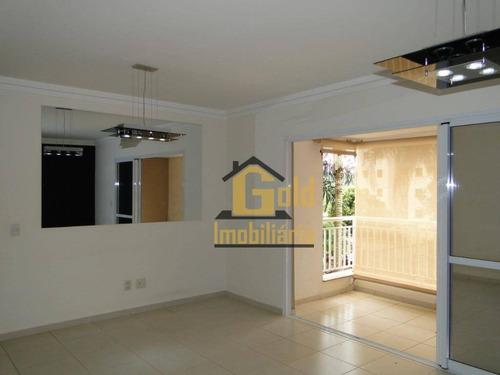 Apartamento Com 3 Dormitórios Para Alugar, 111 M² Por R$ 2.200/mês - Jardim Nova Aliança Sul - Ribeirão Preto/sp - Ap2525