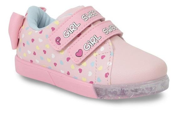 Tênis Casual Infantil Menina Pampili Laço Baby Fun 471017