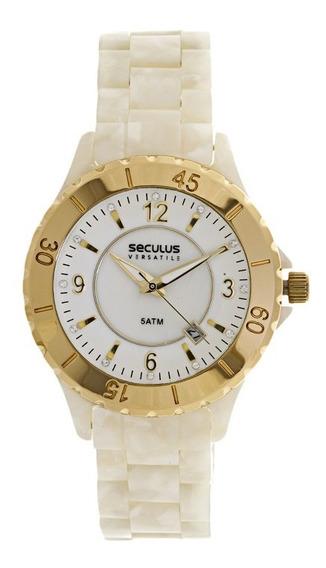 Relógio Seculus 24774lpsfdp2 - Perolado