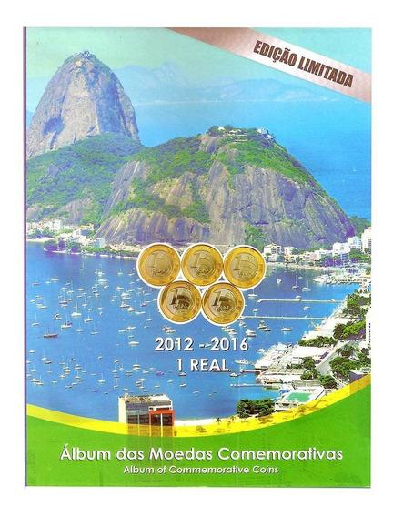 Álbum Para Moedas De 1 Real Comemorativas Olimpíada Rio 2016