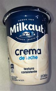 Crema De Leche Sin Tacc Milkaut X 360 Cc