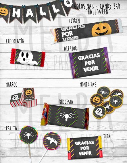 Kit Imprimible Halloween, Decoración Día De Brujas