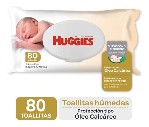 Toallas Humedas Huggies Con Oleo Calcareo Deluxe X 80