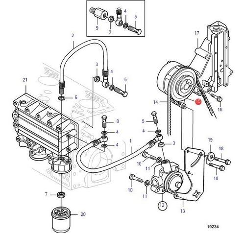 20460252 Polia Bomba De D'água Tad Volvo Penta