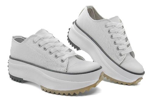 Imagen 1 de 5 de Zapatillas Mujer Sneaker Star Cuero Puntera Glowy 1000