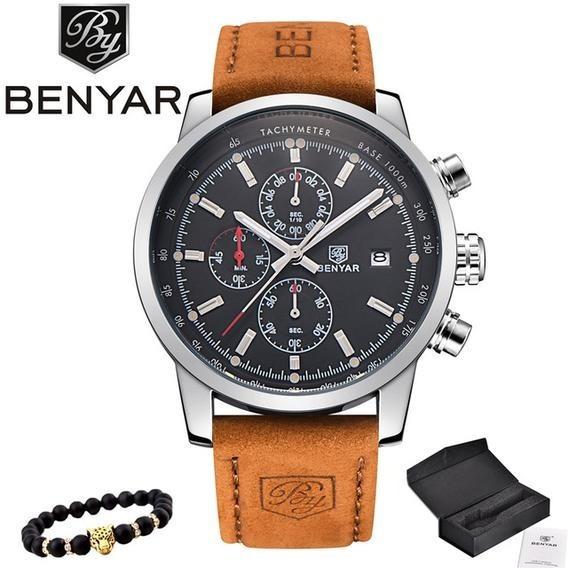 Relógio Masculino Benyar By-5102m Original Com Caixa Barato