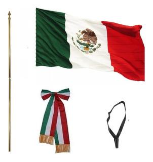Combo Kinder Infantil Asta + Portabandera + Bandera + Moño