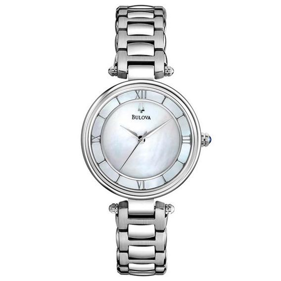 Relógio Feminino Bulova Prateado Madrepérola Wb27725q
