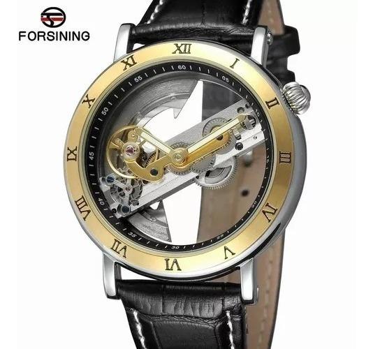 Relógio Forsining Automático Luxo + Caixa + Rel. Skmei Dig.