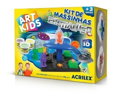 Brinquedo Acrilex Kit De Massinhas Base Do Et Maluco 450g
