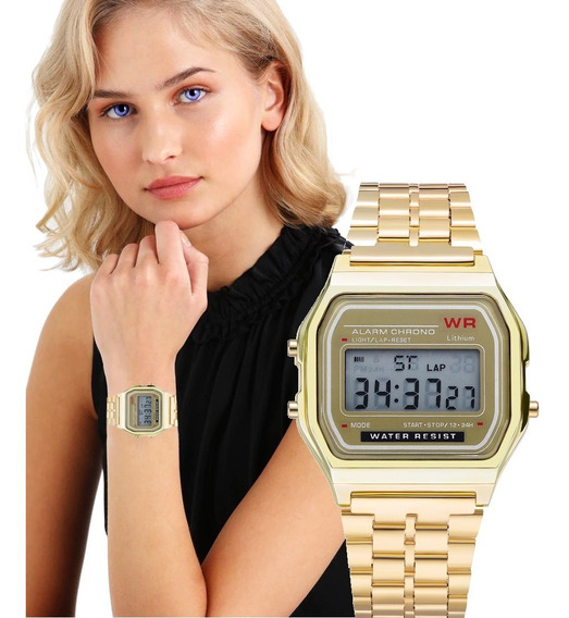 Relógio Digital Wr Retro Unissex Vintage