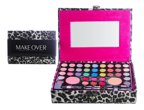 Makeover Set De Maquillaje Sombras Labiales Rubor Pincel 801