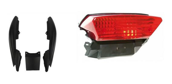 Kit Rabeta E Lanterna Ybr Factor 125 Preto Fosco Opcional