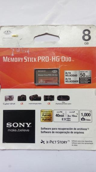Memory Stick Pro Hg Duo 8gb Sony Lacrado
