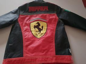 Chamarra De Niño Ferrari Tipo Piel Usada 4 Años