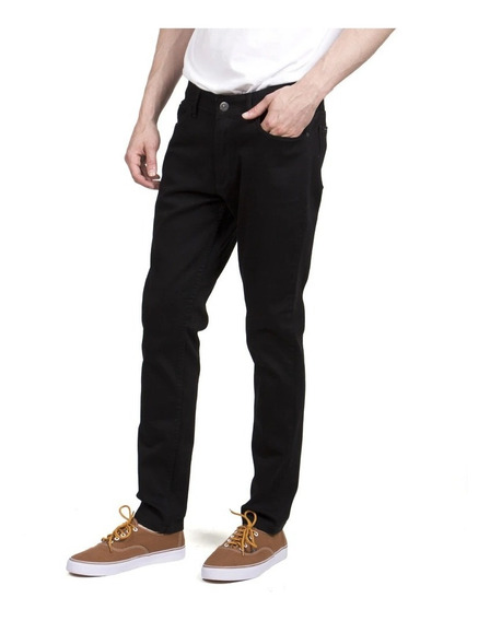 Jean Pantalon Hombre Rusty Bassel Black Slim Fit