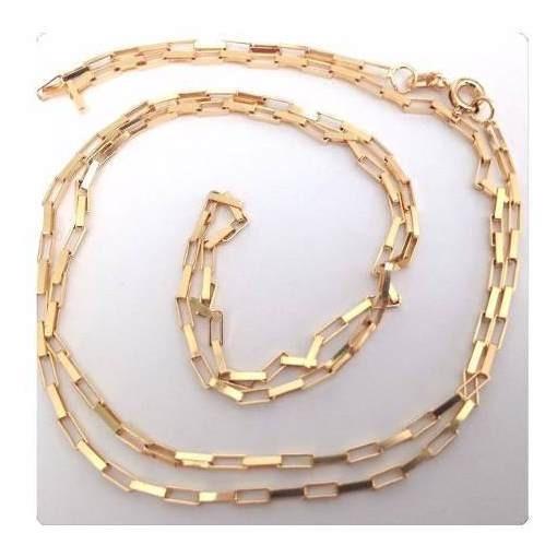 Cordão Corrente Masculino Cadeado De 70cm 4.8 Grs Ouro 18k