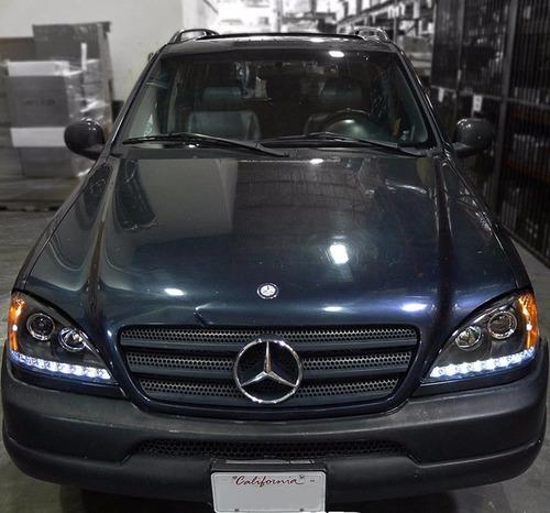 Set Faros Mercedes Benz W163 Ml320 Ml430 Ml55 98 2001 Neg Mercado Libre