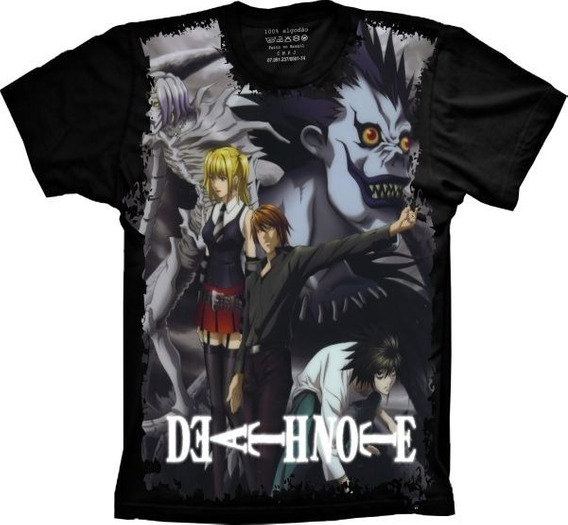 Camiseta T-shirt Full Print Death Note Masculina E Infantil