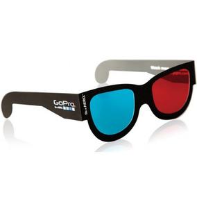 Óculos 3d Gopro Armação Preta Para Fotos Vídeos A3dgl-501