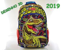 Mochila Infantil Ataque Dinossauro T-rex Frete Grátis 2019