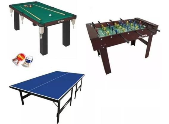 Salão De Jogos Com Pebolim, Mesa De Sinuca E Ping Pong 1560