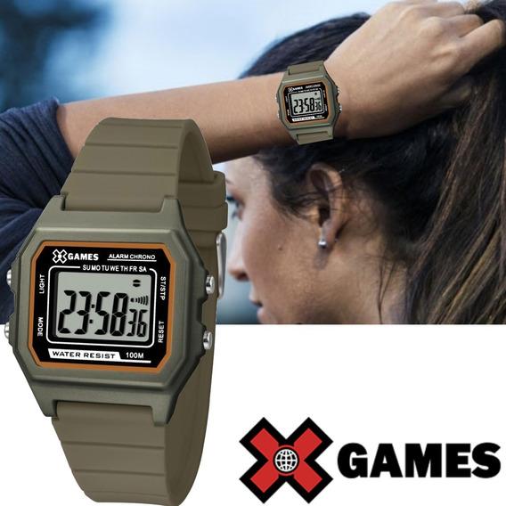 Relógio Feminino X Games Digital Quadrado Prova D´água Xgppd107 Bxmx Original