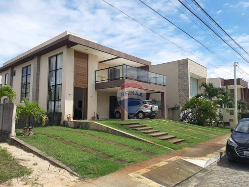 Imagem 1 de 20 de Excelente Duplex Em Condomínio Fechado Com 5 Quartos À Venda - 435m² - Ponta Negra - Natal/rm - Ca0265