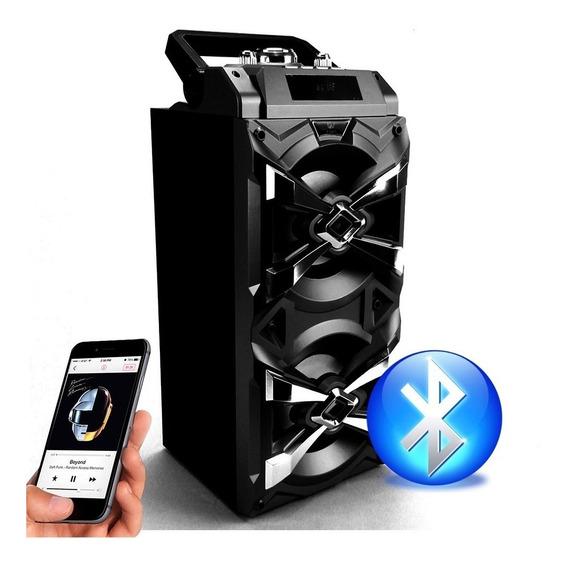 Caixa Som Portátil Amplificada 20w Bluetooth Mic Usb Fm A708