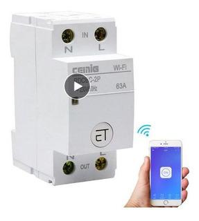 Disjuntor Wifi Timmer Duplo Contr Automátic Ewelink 220v 63a