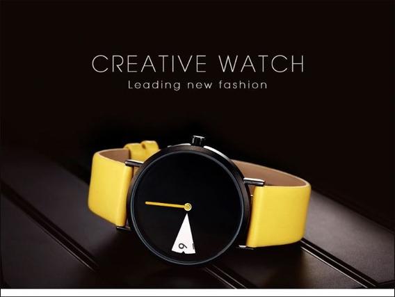 Novo Relógio Feminino Sinobi Amarelo Moda Presente De Natal