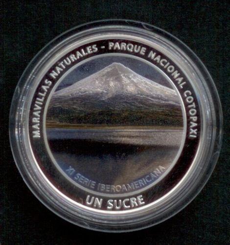 Ecuador Moneda De Plata 1 Sucre 2017 A Color Iberoamericana