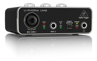 Interfaz De Audio Usb Behringer U-phoria Um2 Proglobal