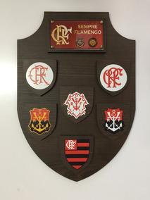 Brasão Escudo Flamengo Decoração 35cm Altura Mengão Mdf