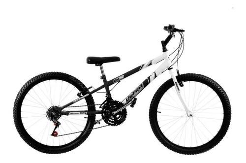 Imagem 1 de 1 de Bicicleta  Ultra Bikes Rebaixada aro 24 bicolor 18 marchas aro 24 18v freios v-brakes cor preto/branco