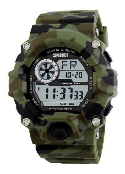 Relógio Militar Shock Digital Skmei Prova D`água