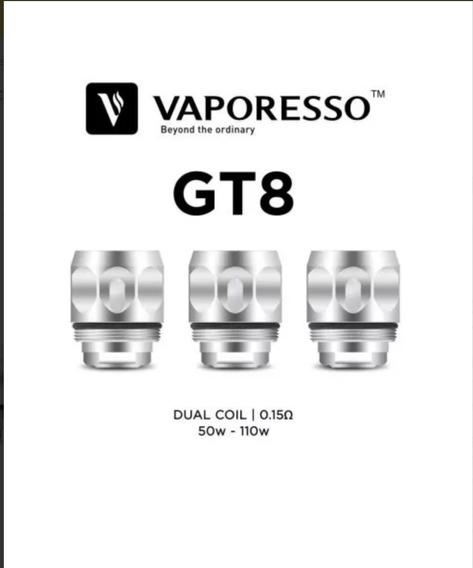Coil Vaporesso Gt8 0.15 Ohm Core - Resistência 3 Unidades